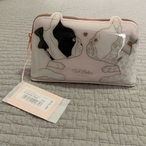 NWT Ted Baker Pink Makeup/Toiletry Bag w Dogs